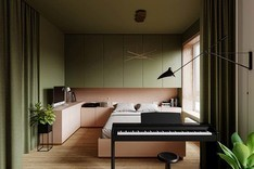 Pink And Green Bedroom Designed By Flooring Dubai