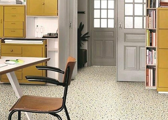 Trendy terrazzo vinyl flooring